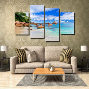 Tablou canvas pe panza beach 6 - KM-CM4-BCH6