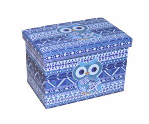 Taburet Design Blue Owl, dimensiune 48 x 32 cm