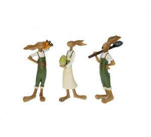 Figurina iepuras cu ou, baiat/fetita, 20x4 cm