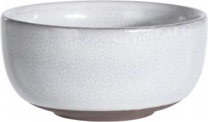 Bol de ceramica, alb, 10.5 cm