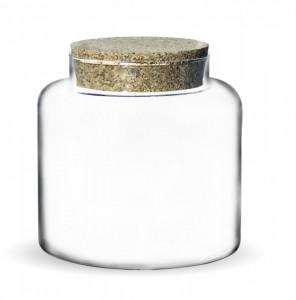 Borcan de sticla cu capac pluta, 19x16 cm
