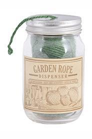 Borcan sticla cu sfoara verde pentru gradina