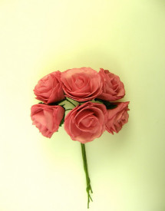 Buchet de trandafiri, roz, spuma