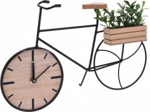 Ceas de masa tip bicicleta, cu plante artificiale