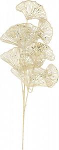 Creanga artificiala, frunze Ginko, auriu