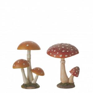 Decoratiune ciuperci, 2 modele, 12x12x16 cm