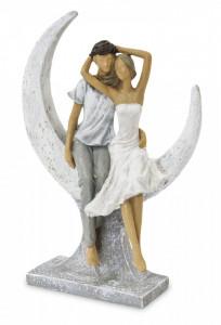 Figurina cuplu semiluna, 26.5x19.5 cm