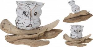 Figurina de lemn, bufnita/pasare