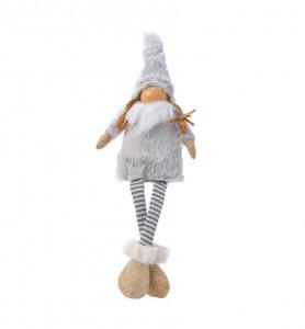 Figurina textila, copil picioare, 37 cm