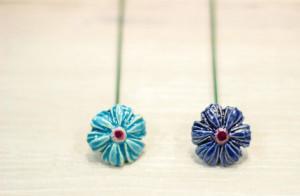 Floare ceramica Albastrea Mini