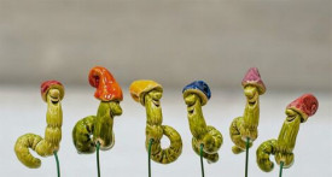 Floare ceramica Viermisor