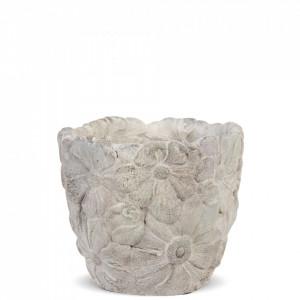 Ghiveci de piatra, model flori, 11.5x13x13 cm