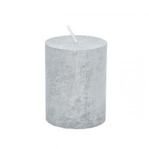 Lumanare 7*9 cm, argintiu