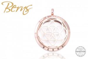 Pandativ aromaterapie, cristale Swarovski, model cercuri, rosegold