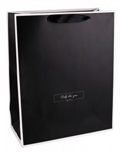Punga de cadou, 26x32cm, negru
