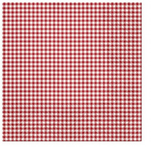 Servetele de masa, 33x33cm, Petit Check Red
