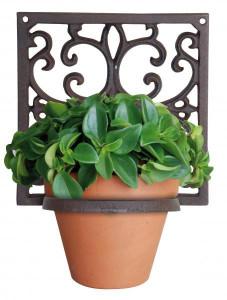 Suport perete fonta flori, 18x18x15 cm