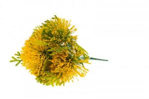 Buchet artificial, leucospermum galben