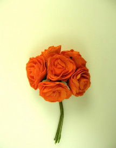 Buchet de trandafiri, portocaliu, spuma