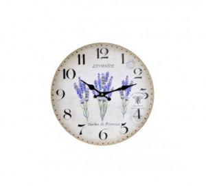 Ceas de perete, MDF, lavanda, diametru 34 cm