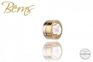 Cercel Swarovski, cu magnet, auriu, suflat cu aur 14k