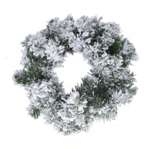 Coronita brad artificial, cu zapada, 50 cm