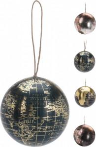 Decoratiune glob pamantesc cu agatatoare, 10 cm
