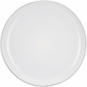 Farfurie plata de ceramica, alb, 26 cm