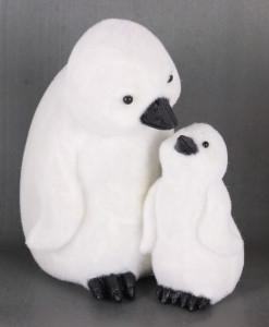 Figurina, 2 pinguini pufosi, 17.2 cm