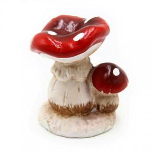 Figurina, ceramica, 2 ciuperci, 8 cm