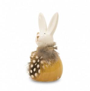 Figurina ceramica iepure cu pene