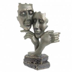 Figurina cuplu, auriu antichizat, 23x12x34 cm
