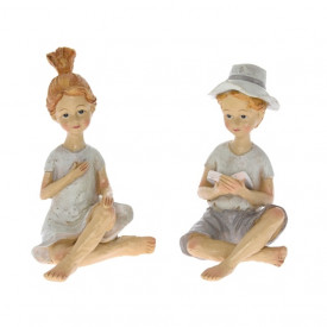 Figurina polirasina, copil, 9.5 cm