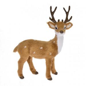 Figurina textila, cerb, 13x6x15.5 cm