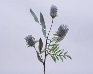 Floare artificiala aspect inghetat, lila, 20x70 cm