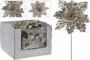 Floare artificiala, champagne, 21 cm