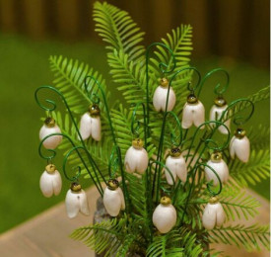 Floare ceramica Ghiocel