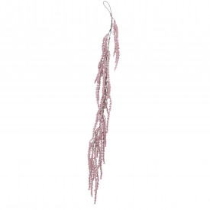 Ghirlanda artificiala bobite, roz inchis, 109 cm
