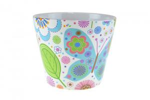 Ghiveci ceramica, print multicolor, D11.5 cm