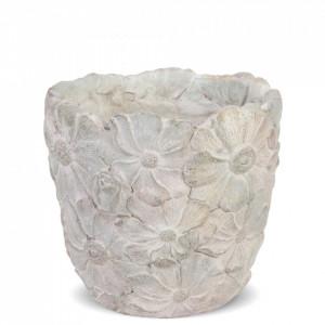 Ghiveci de piatra, model flori, 15x15.5x15.5 cm