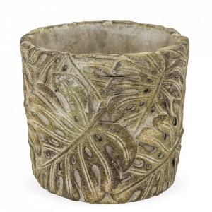 Ghiveci de piatra, model frunze, 11x12.5 cm