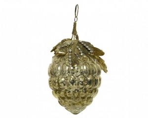 Glob de model ciorchine struguri, auriu, 11 cm