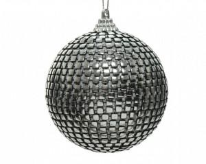 Glob de spuma argintiu, forme patrate, 8 cm