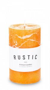 Lumanare cilindru, orange, 11,5 x 7 cm, Rustic