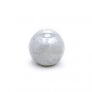 Lumanare sfera, argintiu, 8cm