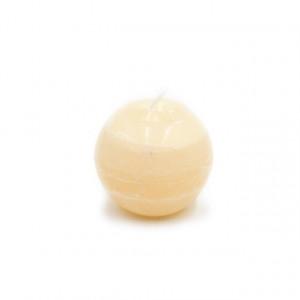 Lumanare, sfera, crem, 8 cm