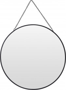 Oglinda de perete cu agatatoare - lant negru, 29 cm