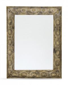 Oglinda de perete, rama metalica antichizata, 84x66 cm