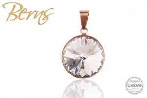 Pandativ, cristale Swarovski, margine rosegold, diametru 14mm