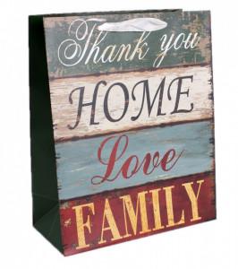 Punga de cadou, 26*32cm, Home,Love,Family